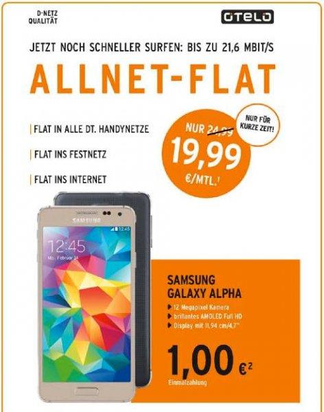 [Berlet offline] Samsung Galaxy Alpha mit Vodafone Allnetflat für 19,99/Monat