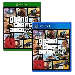 Grand Theft Auto 5 / GTA 5 / GTA V (PS4 / XBOX One / Xbone) | Offline USK: 44,99€ (Müller) | Online: USK Version: 49€ (Redcoon) / PEGI Version: ~45,80€ (TheGameCollection)