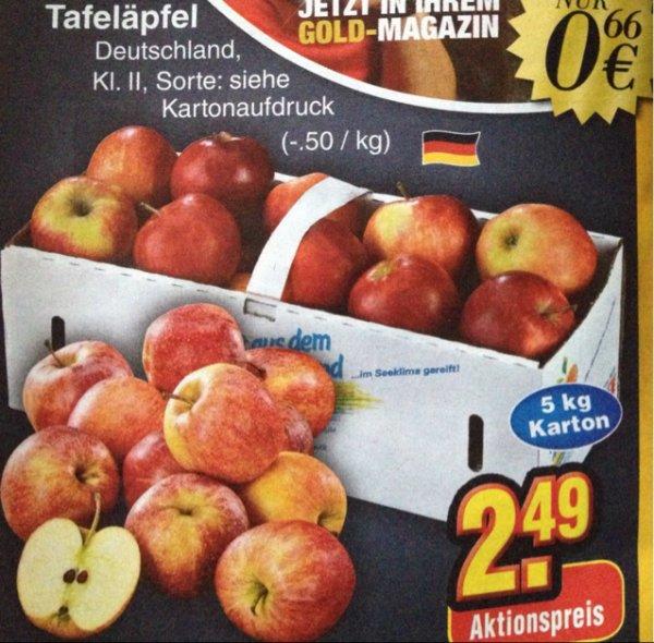 [Netto ohne Hund] Tafeläpfel 5kg für 2,49€ nur am 24.01.15