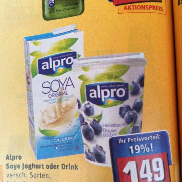 [bundesweit?] REWE Alpro Soya Joghurt/Drink 1,49€