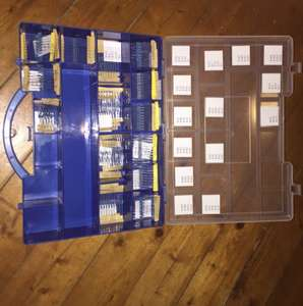 Widerstandssortiment 640 teilig 1/4 Watt 1-10M Ohm  -ohne Sortimentskasten