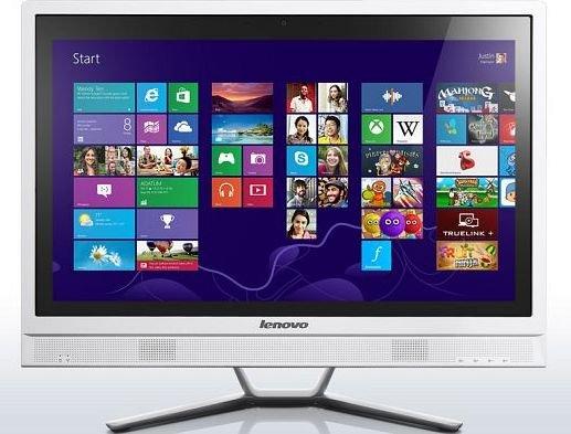 "Lenovo IdeaCentre C470 All-in-One-PC weiß (Pentium 3558U, GeForce 820M, 21,5"" Full-HD, WLAN, Win 8.1) - 399€ @ ZackZack"