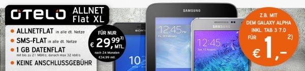 D2 Allnet-Flat + SMS-Flat, 1GB (21,6Mbit/s) Datenvolumen, ohne Anschlusspreis // mit iPhone 6 16GB (149€ Zuzahlung): 24 x 29,99€