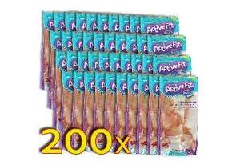 Pampers Active Fit Grösse 3 oder 4, 200 stück 40,65€ Stückpreis 0,20325€  @dealclub.de Qipu 3%
