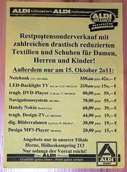"""(Lokal) ALDI HERNE Restposten: 17,3"""" Core i3 f. 420 Euro, Nokia C2-01 für 39 Euro, 8"""" Digi. Bilderr. f. 19 Euro etc."""