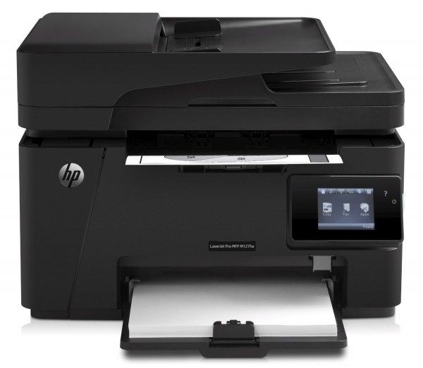 HP LaserJet Pro M127fw Laser-Multifunktionsdrucker (Scanner, Kopierer, Fax, 600 x 600 dpi, WiFi, USB 2.0) schwarz