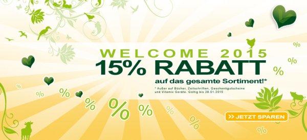Alles-vegetarisch.de 15% Rabatt auf alles + 5€ Newsletter Gutschein (vegane Lebensmittel) alles vegetarisch