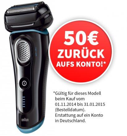 [UPDATE mit meinPaket.de]Braun Rasierer Series 9 - 9040s für 208,99€ -50€ Cashback