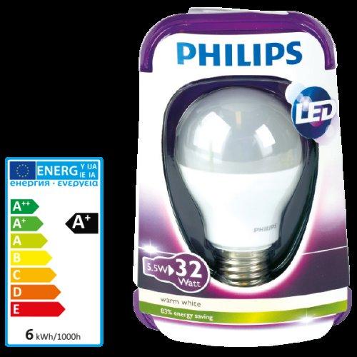 PHILIPS LED-Lampe 5,5 Watt / E27 warmweiß 350 Lumen A+/ 3,49€ / Lokal @Action