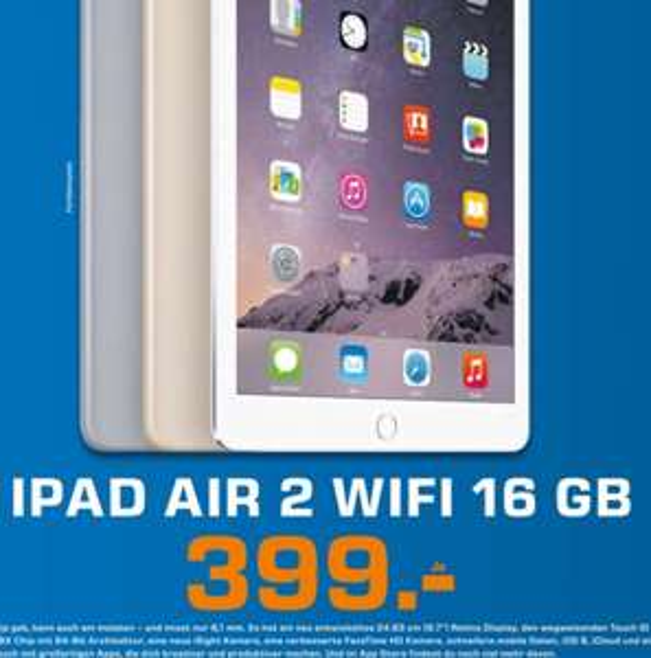 [Lokal Saturn Düsseldorf] iPad Air 2 WiFi 16GB für 399€