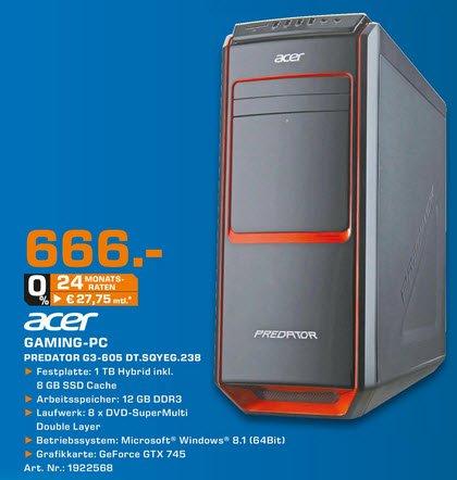 Acer Gaming PC Predator G3-605 @ Saturn [lokal Neckarsulm]