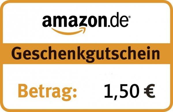 1,50 Amazon Gutschein für 1 Euro auf eBay