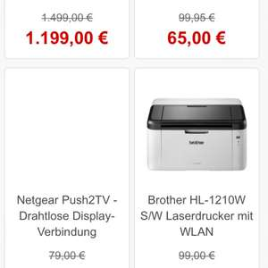 [Comtech] Brother HL-1210 W 69,00€ Idealo 86,95€