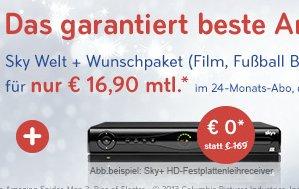 Sky Welt + Sport für nur 16,90€ @sky