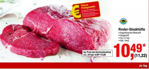 [Metro] Arg. Rinder Steakhüfte frisch ca. 2,5kg zum Top Preis