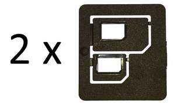 (Wieder verfügbar) eBay: Multi SIM-Karten Adapter Doppelpack für Nano SIM Micro SIM, 1 Euro inkl. Versand