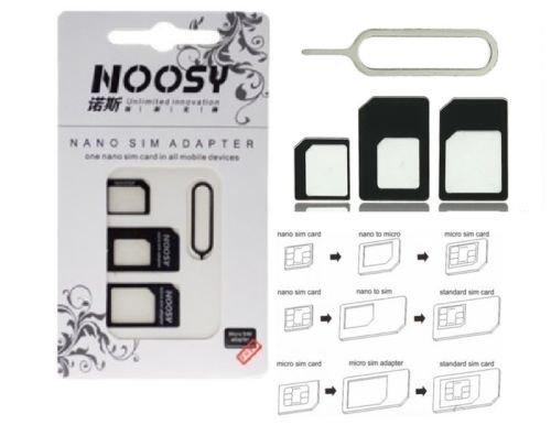 [ebay Deutschland] Wieder da: Noosy Nano Micro Simkarten Adapter 3in1 + Nadel für 1€ inkl VSK