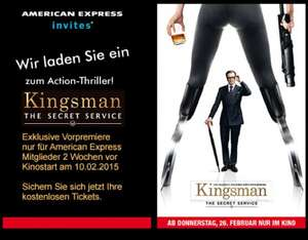 [AMEX-Lokal] Vorpremiere - Kingsmann The Secret Service