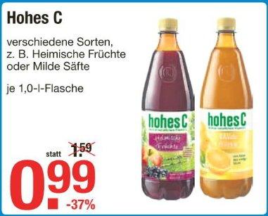 [V-MARKT] Hohes C 1l-Flasche für 0,99 € (22.-28.01.15)
