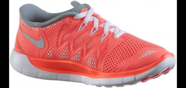 Nike Free 5.0 Laufschuhe Mädchen orange