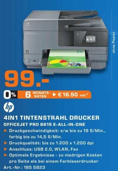 [Saturn Berlin-Köp.&Zehl.] Drucker HP Officejet Pro 8615 // So, 25.01.2015 // 99€