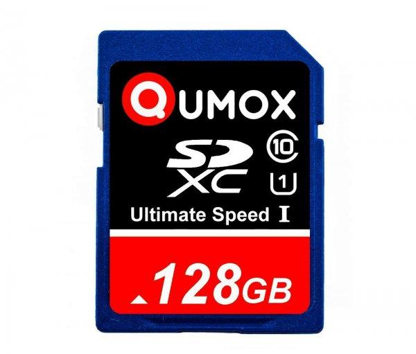 128GB QUMOX SD XC 128 GB SDXC Class 10 für 38,22 € / 64 GB für 17,59 € / 32 GB für 11,82 €