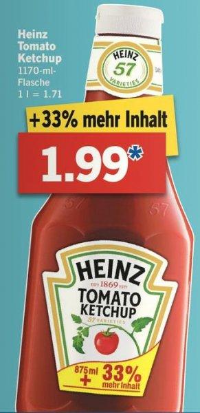 [LIDL] Heinz Ketchup 1170 ml 1,99 € ab 26.01.