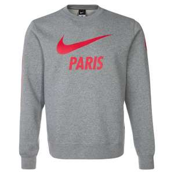 Paris Saint-Germain Club Core Crew Grau-Rot Sweatshirt