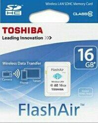 ?update?*mein Paket* 23,50 € * FlashAir 16GB SDHC C10 WiFi Speicherkarte TOSHIBA