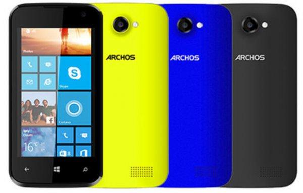 [Conrad] Archos 40 Cesium Dual SIM Windows Phone in schwarz - 70,11€ - 11% Ersparnis