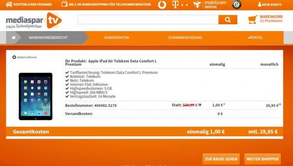 Apple iPad Air - Top Preis und 25 % Rabatt