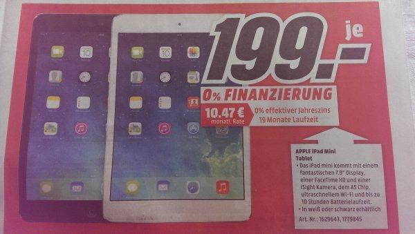 Lokal Bielefeld - iPad mini schwarz oder weiß für 199€