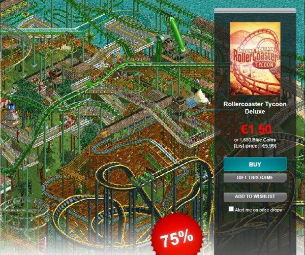 Rollercoaster Tycoon Deluxe: Einmal mehr im Gamersgate Sale