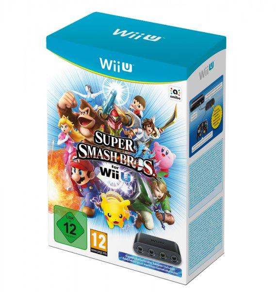 Super Smash Bros + Gamecube Adapter WII U Brandneu Verpackt Offiziell UK Pal  EUR 67,83 !!