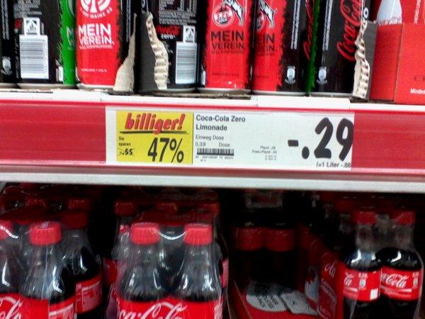 [Kaufland Do-Nord] 0,33l Coca Cola Zero 0,29€ [MHD 01/15]
