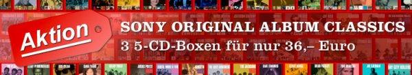 Diverse Aktionen bei jpc.de - z.B. 3 5-CD-Boxen mit Original Album Classics von Sony nur 36,– Euro