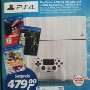 PS4 500GB +DriveClub+Little Big Planet3+the last of us