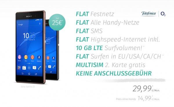 o2 on Business XL - 10 GB 4G LTE Allnet Flat (Ausland/SMS-Flat/Multicard) für nur effektiv 14,99 € mtl.  - Geschäftskunden