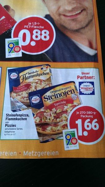 Original Wagner Steinofenpizza, Flammkuchen oder Pizzies bei Wasgau für 1,66 €