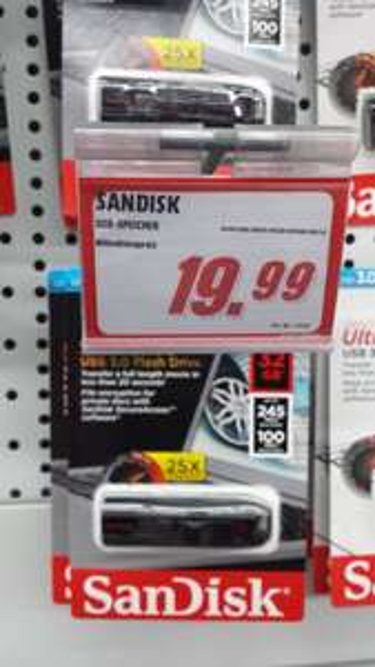 [MM Waltersdorf] Sandisk Cruzer Extreme 32GB USB 3.0 mit SSD Controller