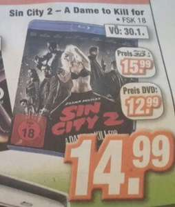 Sin City 2 als 3D Blu-Ray - A Dame to kill for - bei Expert Klein (Lokal)