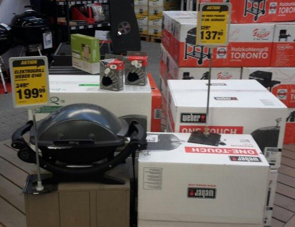 (Lokal 63755 Alzenau) Weber One Touch Premium 57 cm im Toom Markt  & weitere Weber Artikel im Angebot