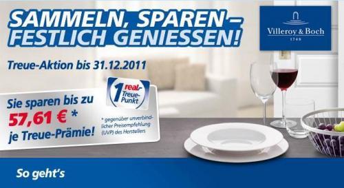 [LOKAL] REAL - Treuepunkte - 4 Villeroy & Boch Allegorie Gläser - nur 9,99€ statt 45€