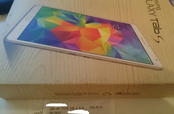 Samsung Galaxy Tab S 8.4 WiFi für 299€ (LOKAL?) @ Mediamarkt Stuttgart