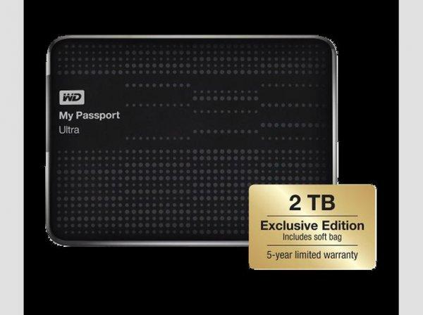 """[Saturn] Western Digital My Passport Ultra 2 TB. """"Exclusive Edition"""" inkl. Schutzhülle für 88 €"""