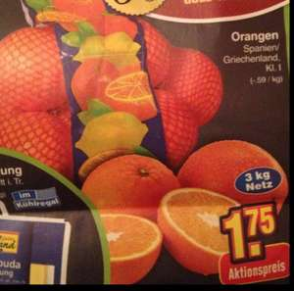 [Netto ohne Hund] Orangen 3kg Netz - 1.75€ am 31.01.15