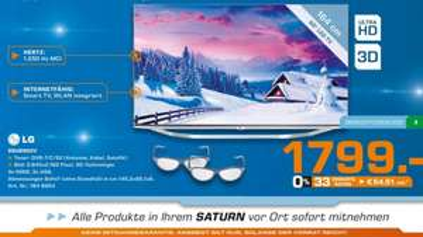 "(Lokal: Saturn Moers): LG 65"" UHD 3D LED 65UB950V für nur 1799 statt 2079 (idealo)"