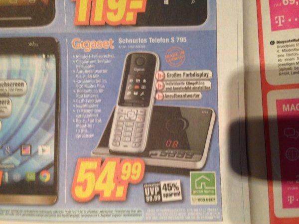 [Lokal ?] [Expert] Gigaset Schnurlos Telefon S 795 mit AB 54,99€ UVP = 99,99€