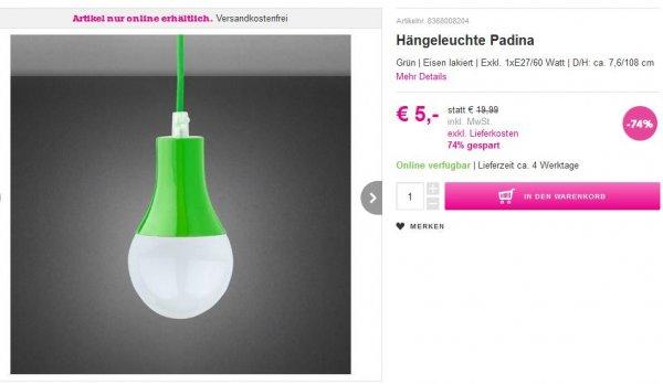 Mömax - VSK-frei &  für 10 EUR Waren bestellen - 5 EUR bezahlen + Hängeleuchte dazu