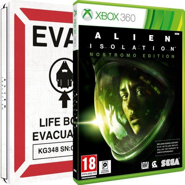 Alien: Isolation - Nostromo Steelbook (Xbox 360) für 22,62€ @Amazon.co.uk